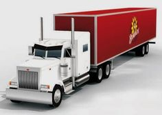 PAPERMAU: Peterbilt 379 Semi Truck Paper Model In 1/72 Scale - by Paper Replika