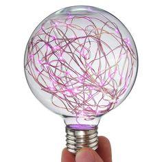 Liwiner LED Night Light Filament lamp Retro Edison Fairy LED light String Bulb For Indoor Christmas. Red Beam, Artwork Lighting, Starry String Lights, Vintage Globe, Traditional Lighting, Light Architecture, Night Lamps, Led, Lamp Light
