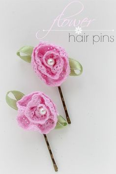 how to make simple flower hair pins