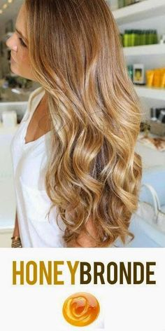 brown golden blonde hair  Honey Bronde Hair Color! The perfect combination of golden blonde and