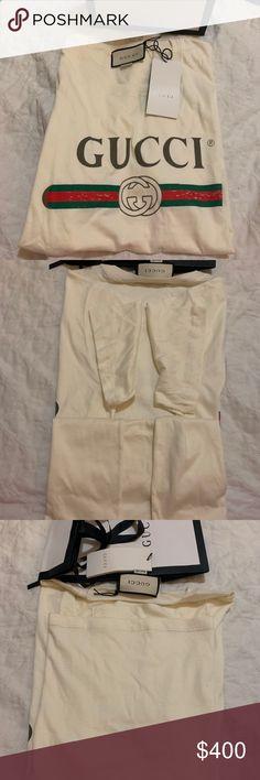 1af4da2e56eb Gucci oversized off white T-shirt Authentic GUCCI Oversized Off White  T-Shirt in