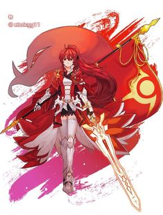 Fantasy Characters, Character Design, Anime Fantasy, Sword Drawing, Elsword, Fantasy Character Design, Anime, Anime Characters, Anime Style