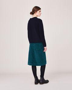 Women's Berry Cord A Line Skirt | Toast