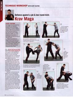Krav Maga Kicks | ... , Blitz Magazine July 2012, Defence against a jab & low round kick