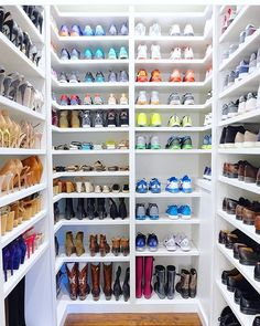 Shoe wall, the home edit, closet organization, dressing room, closet design Shoe Wall, Shoe Room, Organiser Son Dressing, The Home Edit, Closet Remodel, Master Bedroom Closet, Shoe Organizer, Shoe Closet Organization, Shoe Storage