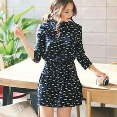 Buy 'Romantica – Printed Shirt Dress' with Free International Shipping at YesStyle.com. Browse and shop for thousands of Asian fashion items from China and more!