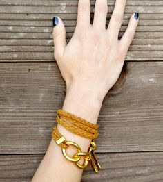 Braided Suede Wrap Bracelet by Muses & Rebels on Scoutmob