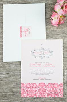 Fresh Start | Written in Ink #wedding #invitation #winkinvitations #pink #damask #flowers #swirls Pink Damask, Start Writing, Fresh Start, Swirls, Wedding Invitations, Flowers, New Start, Wedding Invitation Cards, Royal Icing Flowers