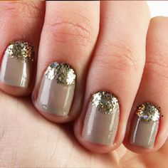 Add a splash of glitter to your nails with this easy tutorial!