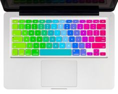 Rainbow Keyboard Cover for MacBook Pro kuzyproducts.com