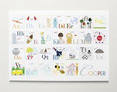 alphabet print for nursery - Google Search