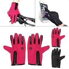 Windproof Waterproof Touch Screen Warm Glove Mittens Fleece Outdoor Cycling Bike #Unbranded #FullFinger