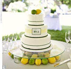 Lemon and Lime wedding cake!?!?!