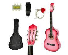 Pink Acoustic Guitar Starter Kit Beginers Girls Right-handed Guitar Acoustic Guitar Kits, Starter Kit, Music Instruments, Hands, Girls, Pink, Ebay, Toddler Girls, Daughters