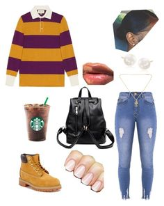 """""""Tom-7~Shiloh dynasty"""" by kredd627 on Polyvore featuring Gucci, Lipsy, Timberland, Cuero, Ross-Simons and Chrome Hearts"""
