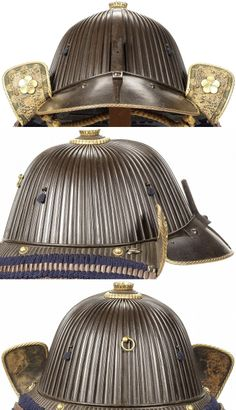 62 plate suji bachi kabuto with a rare construction method. The edges of the…