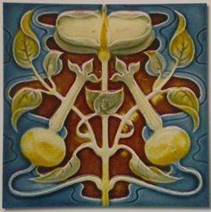 Henry Richards c1901 (various colourways) - Art Nouveau Tiles