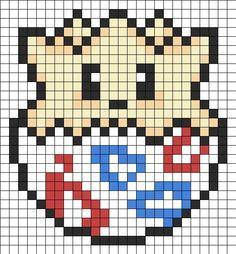 Togepi V2 Perler Bead Pattern | Bead Sprites | Characters Fuse Bead Patterns