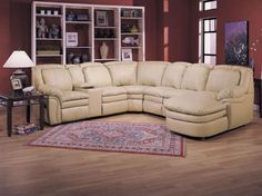 Sectional Couches: Lane Furniture Sectional Sofa Stallion Leather Recliner Collection