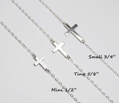 Sideways Cross Necklace Taylor Jacobson Celebrity by gemsinvogue, $26.00