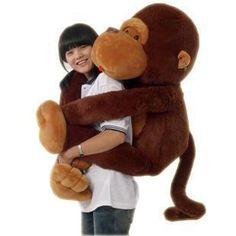 GIANT HUGE BIG STUFFED ANIMAL SOFT PLUSH MONKEY DOLL PLUSH TOYS | eBay