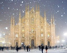 ~ ~ Duomo Cathedral in Milan, Italy ~ ~ Believe In The Magic of Christmas FB www.nipon-scope.com