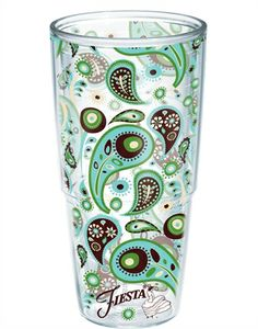 I NEED a 24 oz tumbler and this one just might work    Fiesta®   Cool Blue   Paisley   Tumblers, Mugs, Cups   Tervis