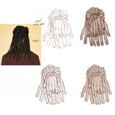 Image result for how to draw dreadlocks