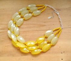 Hey, I found this really awesome Etsy listing at https://www.etsy.com/listing/174846109/ultimate-yellow-statement-necklace-light