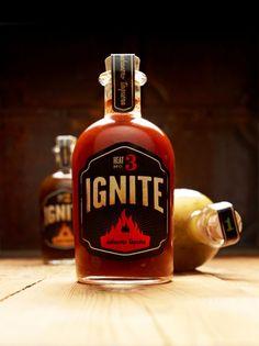 Ignite Brand Salsa Packaging by Stephen Jones, via Jar Packaging, Cool Packaging, Brand Packaging, Design Packaging, Packaging Ideas, Label Design, Package Design, Graphic Design, Hot Salsa