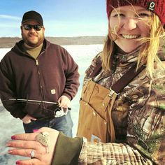 "Congrats to this newly engaged couple that used our ""MARRY ME?"" fishing lure to pop the question. Wedding Proposals, Marriage Proposals, Winter Engagement Photos, Engagement Ideas, Fishing Lures, Fishing Tips, Fishing Wedding, Ways To Propose, Unique Valentines Day Gifts"