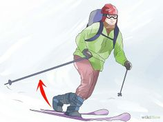 """Step 7. Do Better Telemark Ski Turns Focus in your mind on """"stepping back"""" with your trailing ski into a turn, instead of consciously """"stepping forward"""" with your leading ski. This not only helps you control your rear ski, but makes you feel less nervous on steep terrain--you're not lunging forward into a scary void, but tucking your leg safely back into the mountain. The end result is the same: your leading ski will be in front of your trailing ski as you carve your tele turn."""