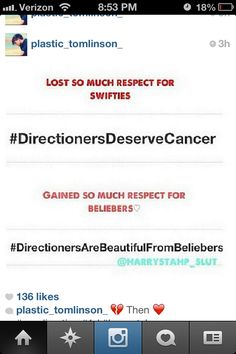 like i dont even want to say like back atcha because this is sad and stupid! directioners are strong and its gonna take a whole lot more to bring us down..... which is never!!!!!!!!!!!!!!!!!!!!!