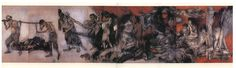 Hiroshima Panels (原爆の図, Genbaku no zu) Nagasaki, Hiroshima, Nuclear Disasters, Thirty Two, Burns, Champion, Husband, Artists, Painting