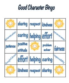 It is a picture of Dashing Character Bingo Template