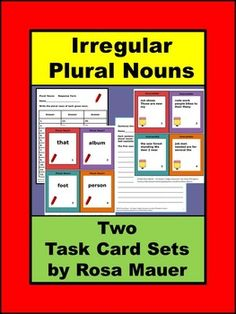 Irregular Plural Nouns Task CardsIn the first set of task cards, students are to…