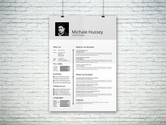resume template free on behance more at designresources io