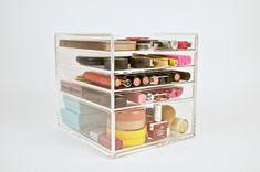 Acrylic Makeup Organizer 5 Drawer Beauty Cube por TheBeautyCubeShop