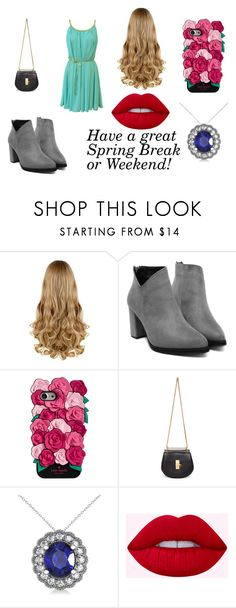 """""""Have a great Spring Break or Weekend!"""" by i-love-cake3 ❤ liked on Polyvore featuring Kate Spade, Chloé and Allurez"""