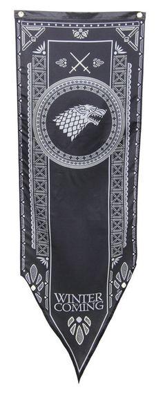 Bandera Estandarte Casa Stark. Juego de Tronos. Torneo, 50 x 152 cm  Precioso estandarte basado en la serie Juego de Tronos.