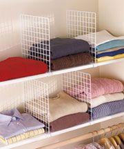 shelf dividers for closet