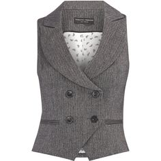 Grey piped button waistcoat ($40) ❤ liked on Polyvore featuring outerwear, vests, tops, jackets, fashion tops, women's tops, vest waistcoat, button vest, double breasted vest and grey vest