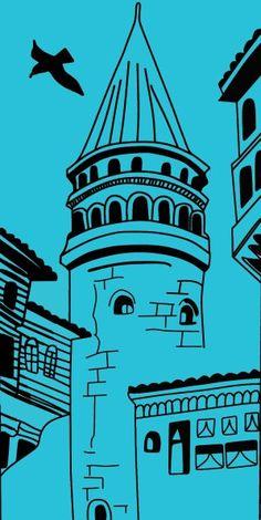 Beyoğlu, İstanbul konumunda Galata Kulesi