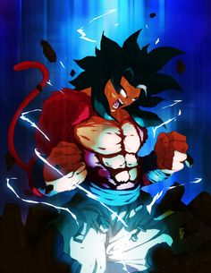 goku ssj4: color commission by TovioRogers