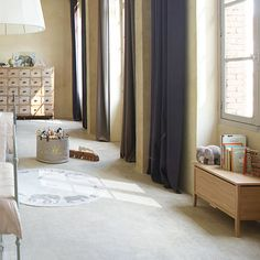 muted colors are nice as long as there are splashed of color and different textures to break them up a bit.... Toddler's Bedroom