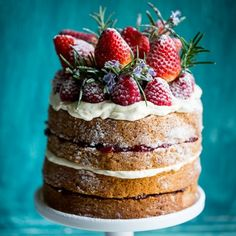 Buckwheat Cake with Berry Compote & Love, Aimee x Giveaway