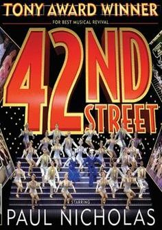 Did a dance to music from 42nd Street and saw the production off-Broadway...I was mind-fuXked by awesomeness