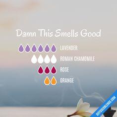 Blend Recipe: 6 drops Lavender, 4 drops Roman Chamomile, 3 drops Rose, 2 drops Orange