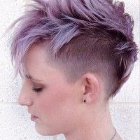 faux hawk undercut hairstyle