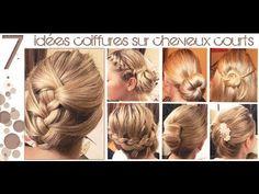 ➳ 7 idées Coiffures sur Cheveux COURTS (longueur épaules)   L.A Hairstyle Inspiration - YouTube